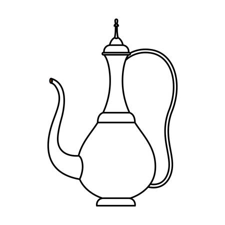 arabic traditional teapot icon vector illustration design
