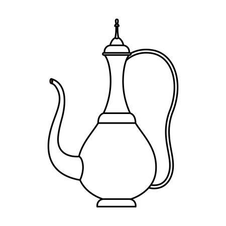 Arabisch traditioneel theepot pictogram vector illustratie ontwerp