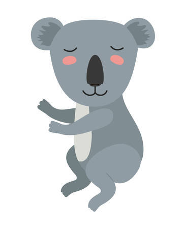 wild koala isolated icon vector illustration design