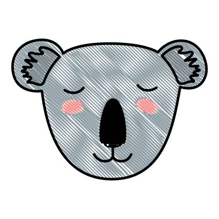 wild koala head icon vector illustration design
