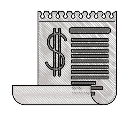 receipt shet isolated icon vector illustration design