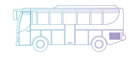 bus transport isolated icon vector illustration design Illustration