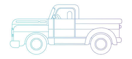 Platos truck isolated icon vector illustration design