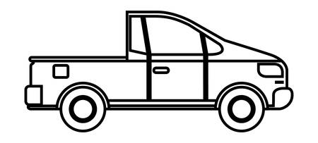 Platos truck isolated icon vector illustration design