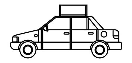 taxi public service icon vector illustration design