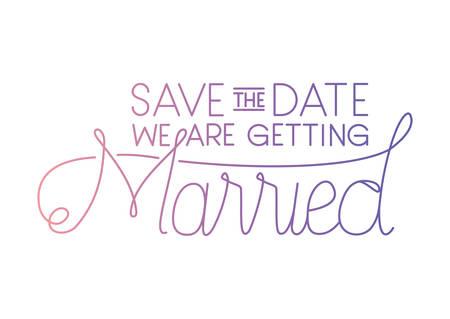 married celebration card with hand made font vector illustration design
