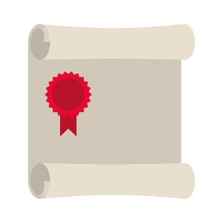 offenes Symbol Vektor-Illustrationsdesign des Diplomabschlusses