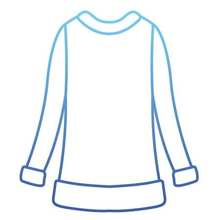 Wool sweater winter clothes icon vector illustration design