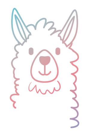 llama animal exotic icon vector illustration design 矢量图像