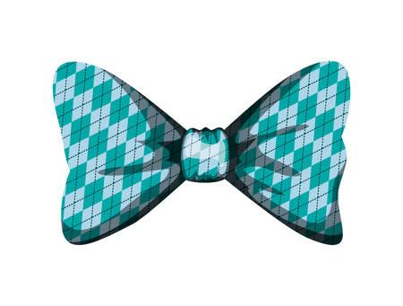 elegant bowtie ribbon icon vector illustration design
