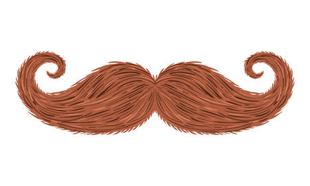 mustache hipster style accessory vector illustration design