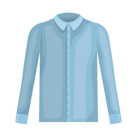 elegant shirt masculine icon vector illustration design