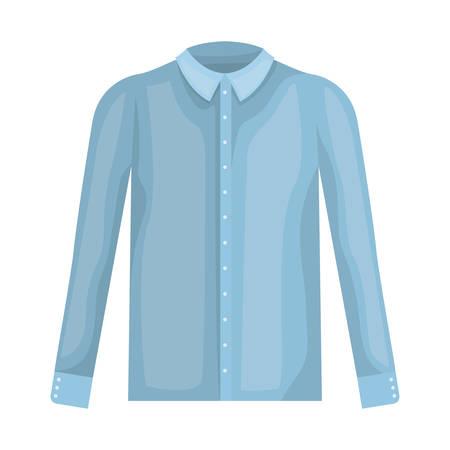 elegant shirt masculine icon vector illustration design