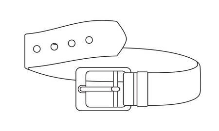 masculine elegant belt icon vector illustration design Illustration