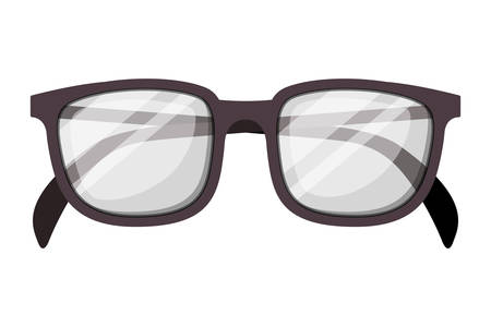 eyeglasses optical accessory icon vector illustration design Illusztráció