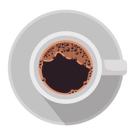 Kaffeetasse Luftansicht Symbol Vektor-Illustration Design
