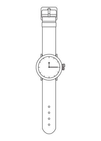 Montre-bracelet masculin icône isolé vector illustration design