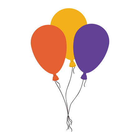 balloons helium floating icon vector illustration design