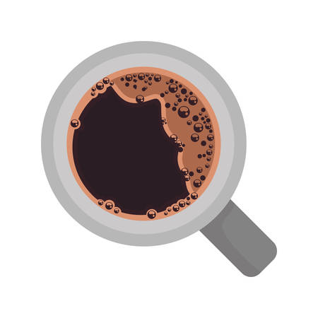 coffee cup air view icon vector illustration design