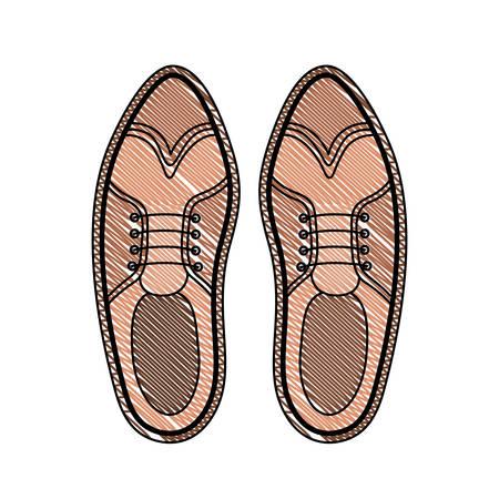elegant masculine pair shoes vector illustration design