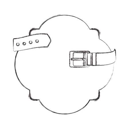 frame with elegant belt vector illustration design