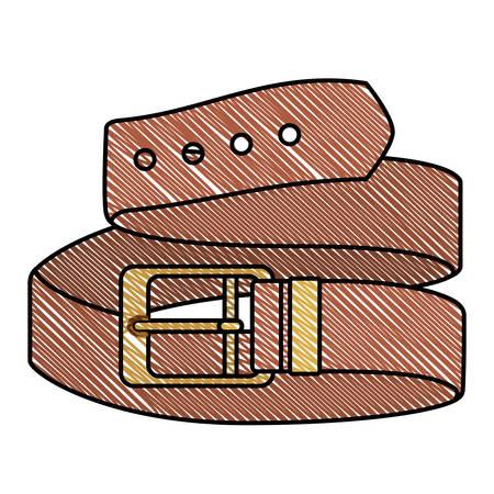 progettazione dell'illustrazione di vettore dell'icona della cintura elegante maschile Vettoriali