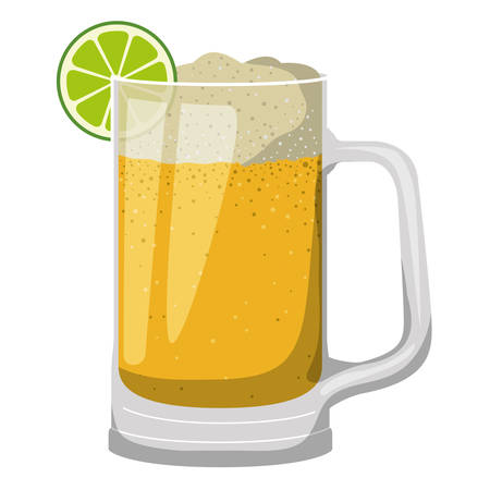 jar beer drink icon vector illustration design
