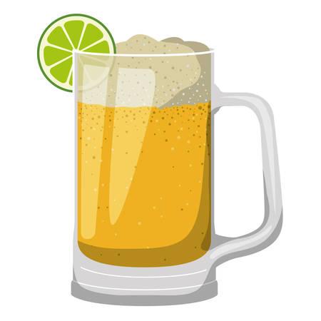 jar beer drink icon vector illustration design