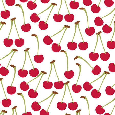 fresh cherry pattern background vector illustration design Illustration