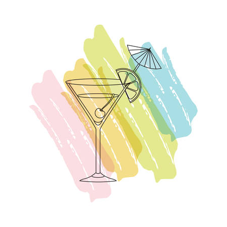 cup cocktail drink icon vector illustration design Ilustração