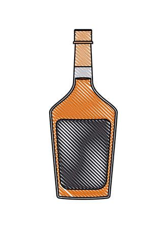 alcoholic beverage bottle icon vector illustration design