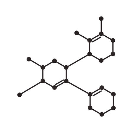 Struktur Molekularwissenschaft Ikone Vektor-Illustration Design Vektorgrafik