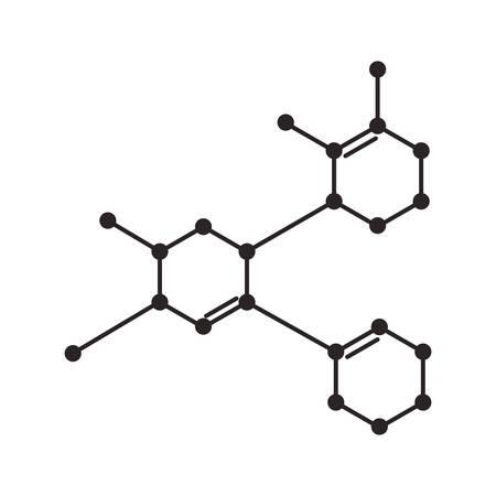 struktura nauka molekularna ikona wektor ilustracja projekt Ilustracje wektorowe
