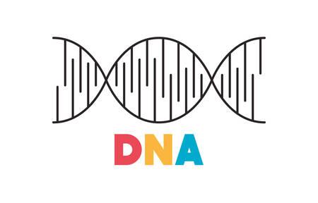 dna chain science icon vector illustration design