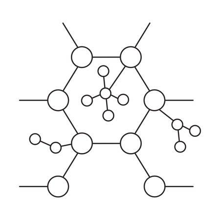 structure molecular science icon vector illustration design