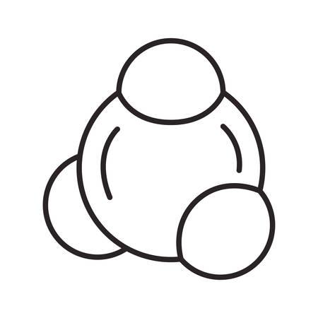 atom molecule isolated icon vector illustration design Vectores