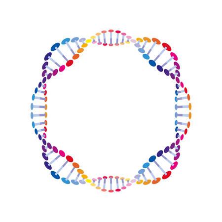 circular dna chain science icon vector illustration design Ilustração