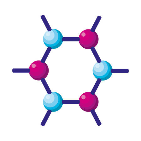 structure molecular science icon vector illustration design