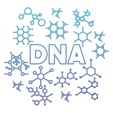 dna structure molecular pattern background vector illustration design