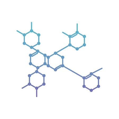 Diseño de ilustración de vector de icono de ciencia molecular de estructura