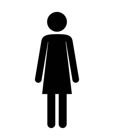 female figure human silhouette vector illustration design