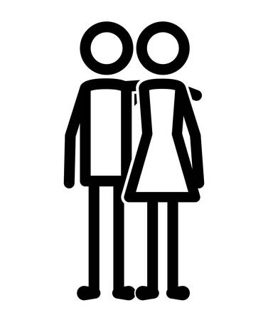 couple human figures icon vector illustration design