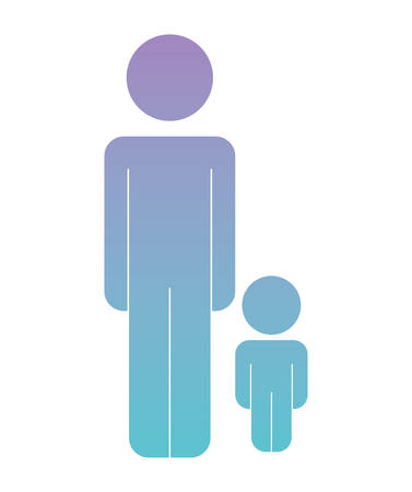 father with son figures silhouettes vector illustration design