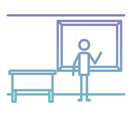 profile teaching with chalkboard vector illustration design Vektorové ilustrace