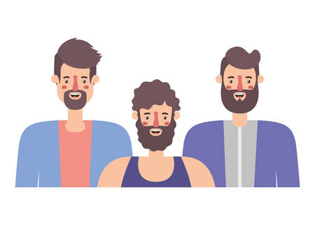 group of men characters vector illustration design