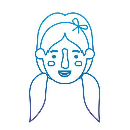 beautiful and young girl head vector illustration design