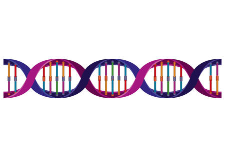 horizontal dna chain science colorful icon vector illustration design