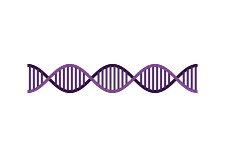 horizontal dna chain science colorful icon vector illustration design 일러스트