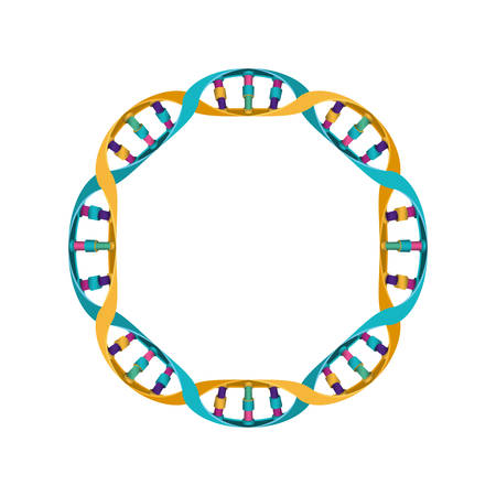 circular dna chain science colorful icon vector illustration design 向量圖像