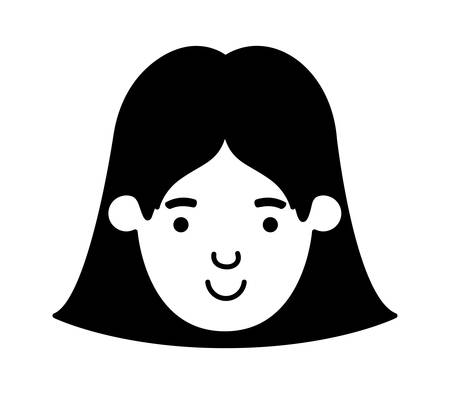 beautiful and young girl head vector illustration design Stock Illustratie